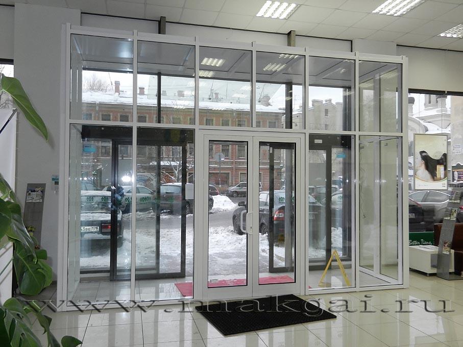 Невские двери двупольные на гаражном в хабаровске